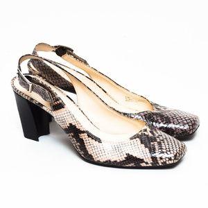 Franco Sarto Heels Womens 9.5 M Gray Snakeskin